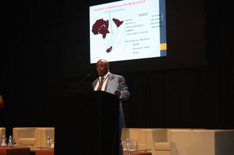UIA ED Dr. Eng Frank Sebbowa presenting Investment Opportunities at the Conference