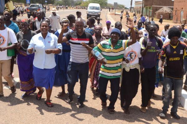 UCU staff members join local residents for Luwum's life celebration in Mucwini, Uganda (UCU Photo)