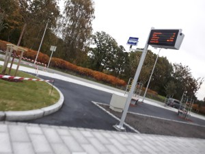 Bus stop in Kristiansand, Norway