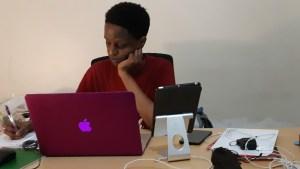 Nabayego studying online