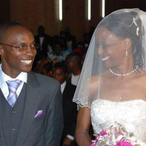 Nabayego walking down the aisle with her husband on their wedding day at Namirembe Cathedral, Kampala (Courtesy photo)