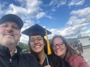 Lauren and her family shortly after her graduation. Courtesy photo