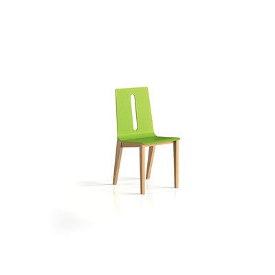 chaise 4 pieds wood structure hetre verni naturel taille 3 lot de 2