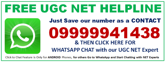 WHATSAPP UGC NET HELPLINE 09999941438