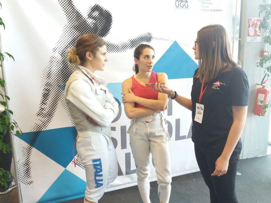 Intervista alla squadra di fioretto femminile dell'Aeronautica