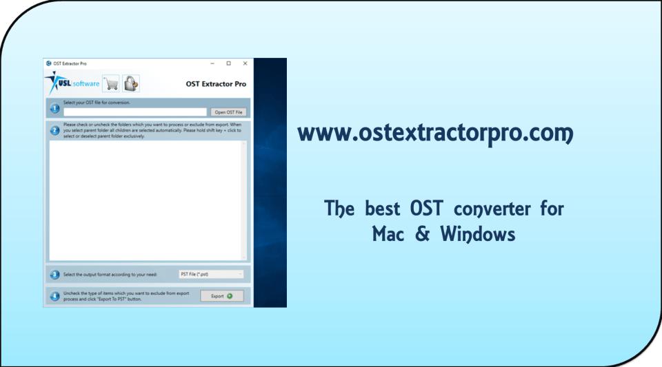 ost file conversion