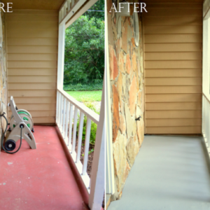 Porch Paint: Before and After
