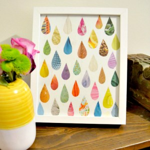 Make Easy Raindrop Art from an Old Magazine