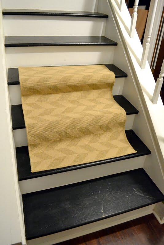 Dueling DIY Stair Runner Tryouts