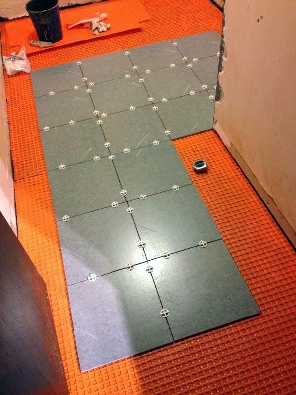 tile over concrete subfloor an easy