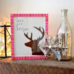 """Christmas DIY: """"Let's Get Blitzen"""" Reindeer Art"""