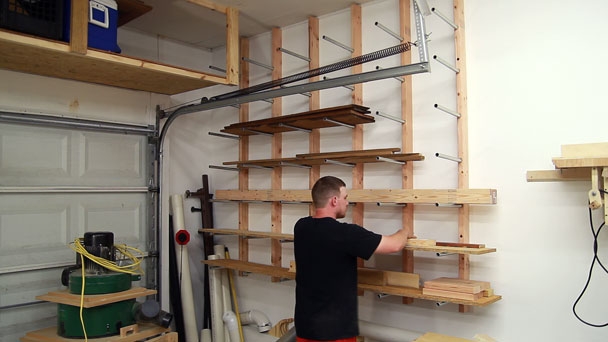 cheap and easy diy lumber rack ugly