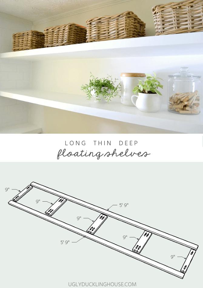 long deep thin sturdy floating shelves plans