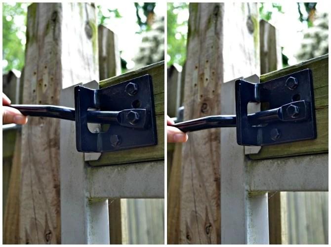 adjusting gate latch arm