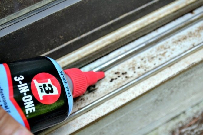 fixing sliding glass door with oil