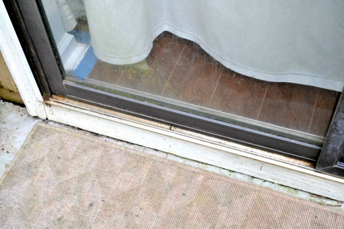 sliding glass door track