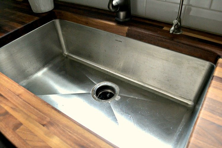 treat water spots on butcher block counters