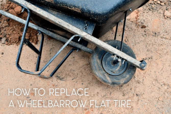 how to repair a wheelbarrow flat tire