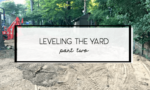 leveling-grading-sinkhole-backyard-part-2