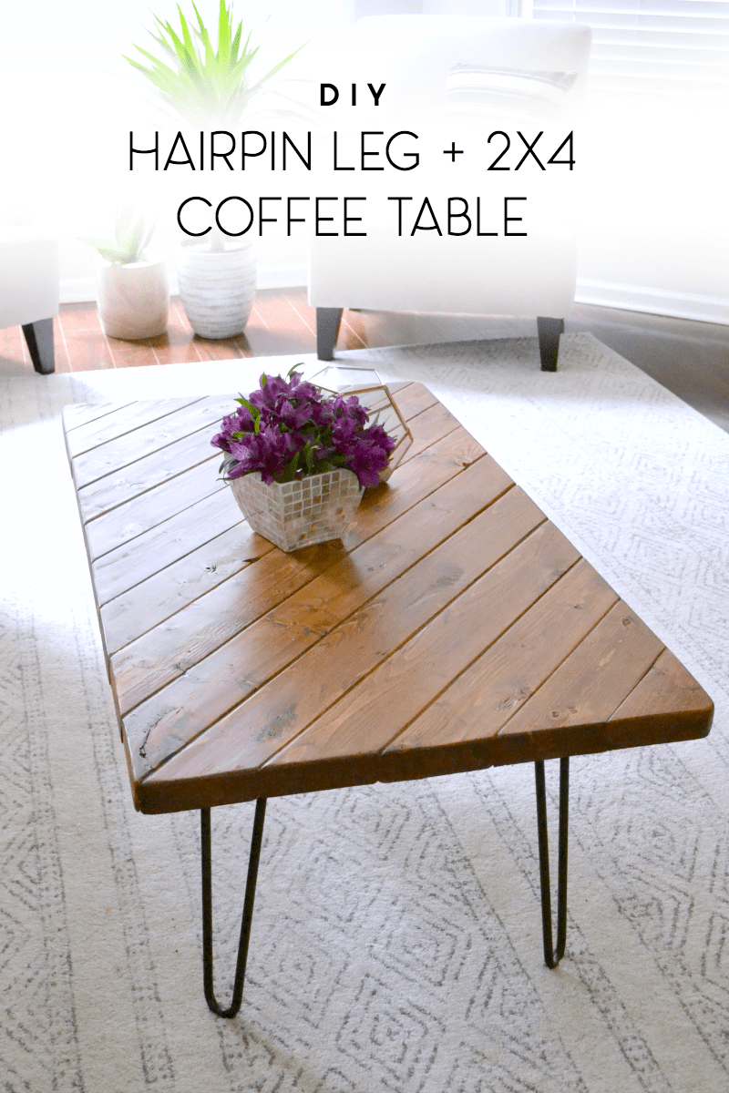 15 minute diy hairpin leg coffee table