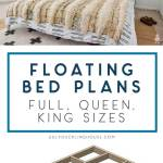 Floating Platform Bed Queen And Full Plans Now Available Ugly Duckling House