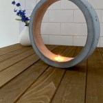 Ring Shaped Diy Cement Candleholder Ugly Duckling House