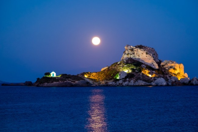 Moonrise at Agios Stephanos