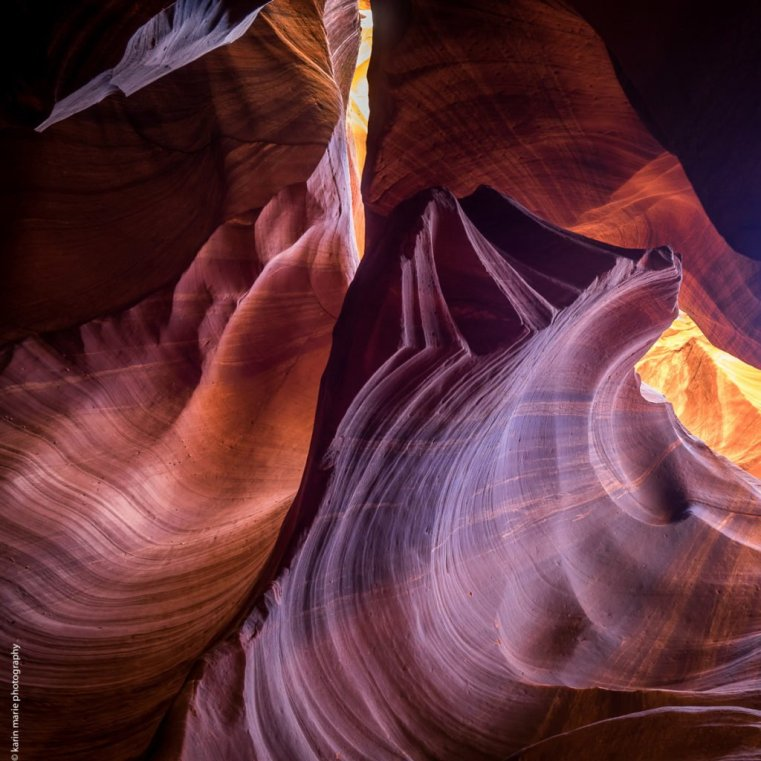 Twists and turns of the canyon walls