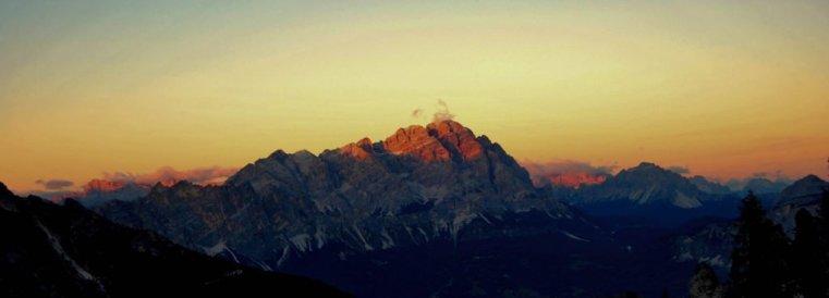 Sunrise above Cortina