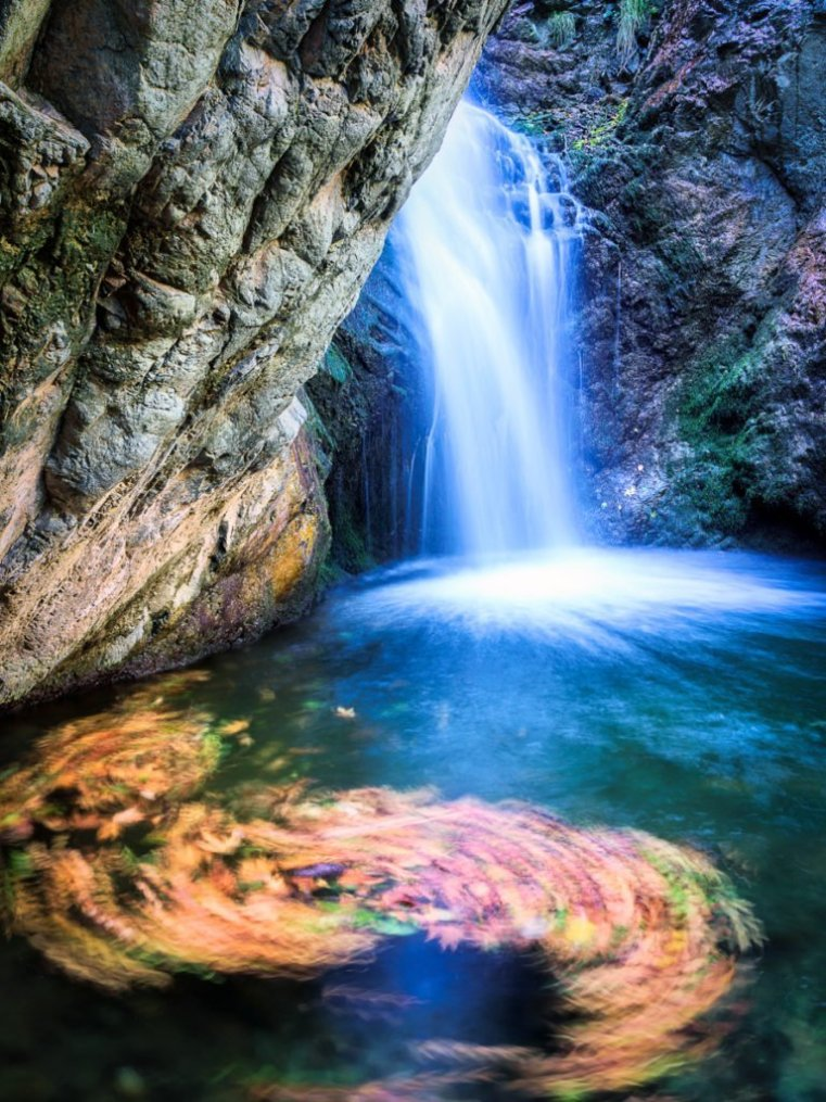 Waterfall in Trodos Mountains, Cyprus