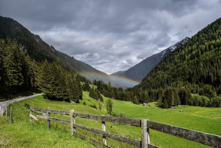 Post storm rainbow in the Hohe Tauern