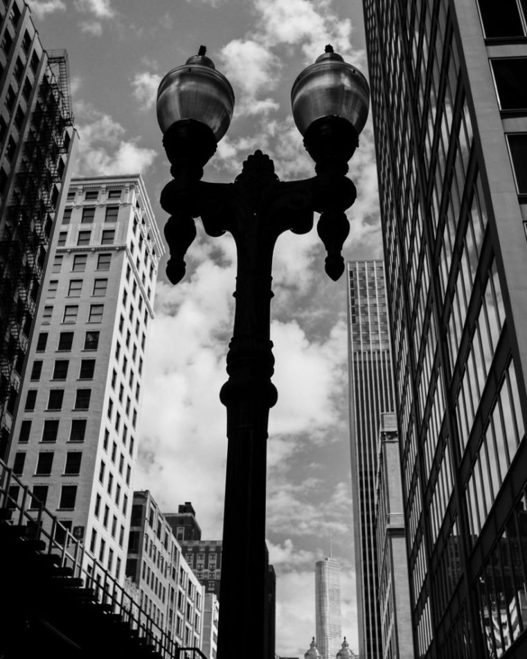 Streetlamp on State Street, Chicago