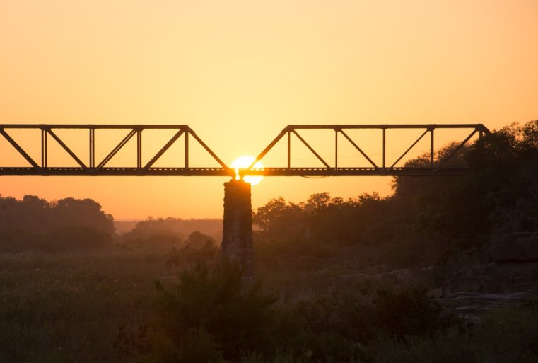 Sunrise over Sabie Bridge