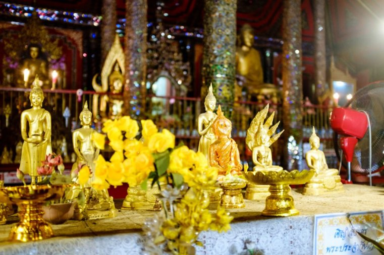 Inside a temple in Lampang