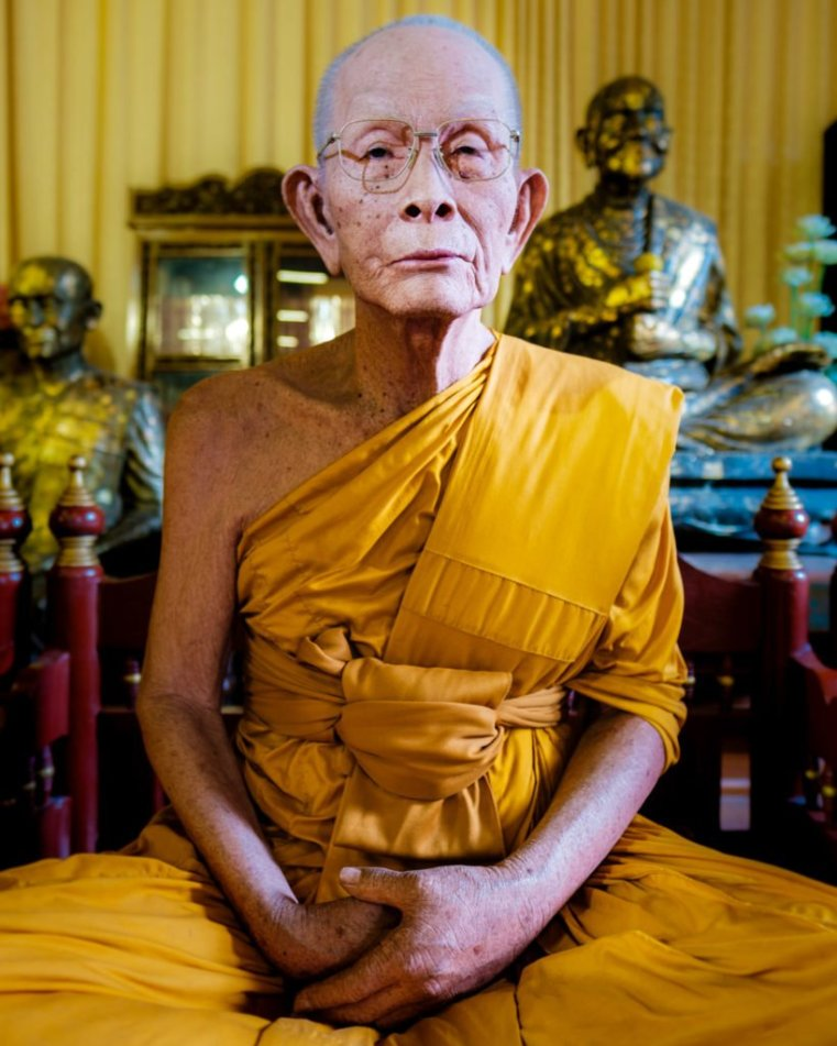 Wax statue of a monk, Chiang Mai, Thailand