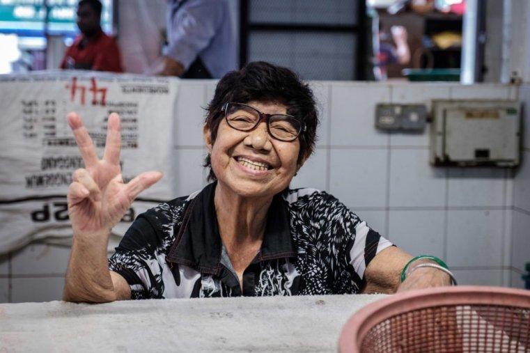 Smiling lady, Penang, Malaysia