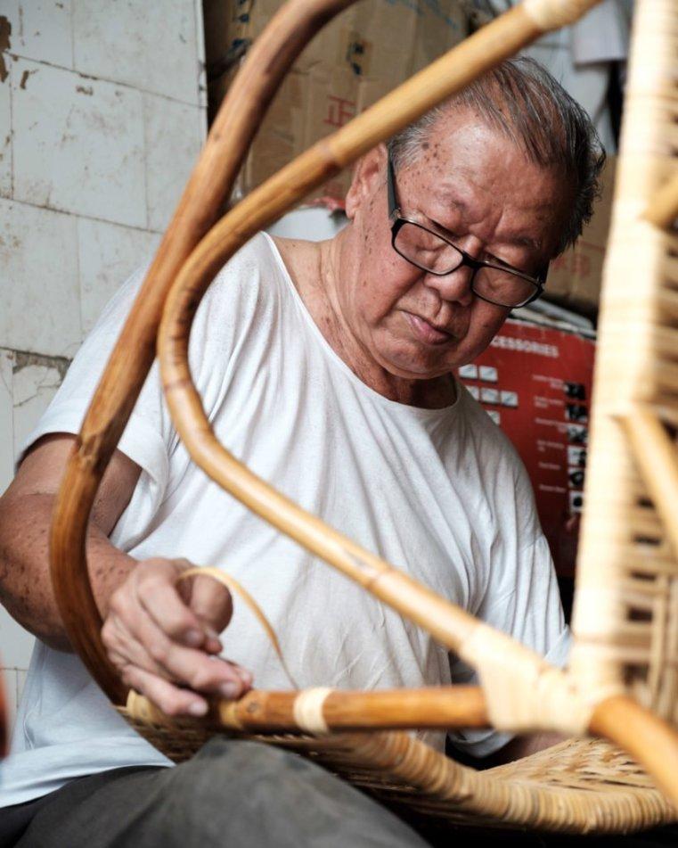 Making chairs, Penang, Malaysia