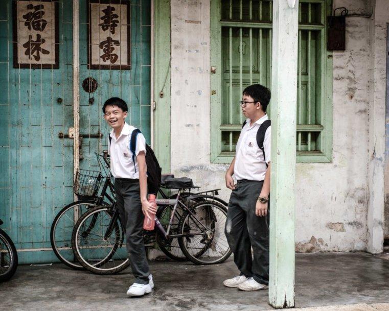 Schoolchildren, Penang, Malaysia
