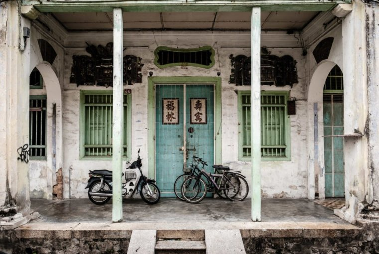 Old George Town house, Penang, Malaysia