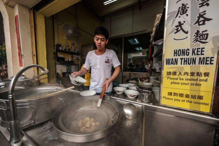 Cooking dumplings, Penang, Malaysia