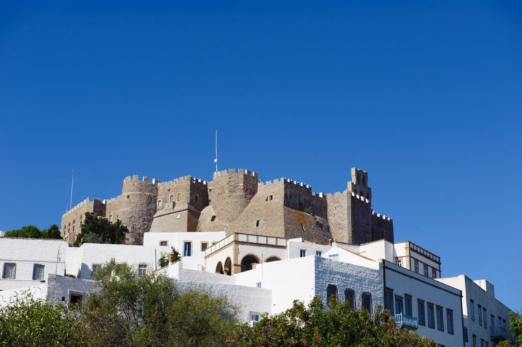 The mighty ramparts of St. John's monastery