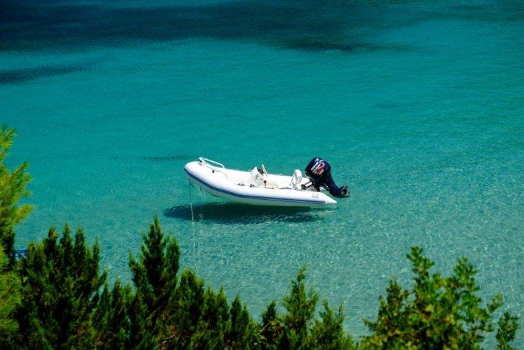 Zodiac on the sea, Kefalonia, Greece