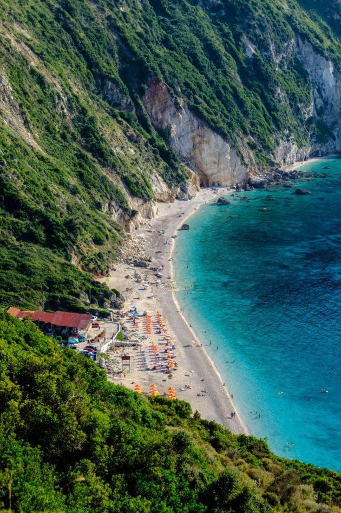The famous west coast beach of Petanì