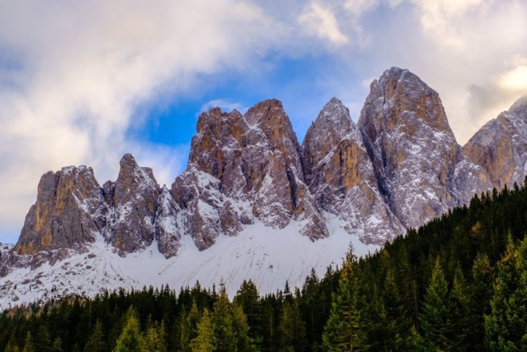 The Puez-Odle Group from Funes, Italian Dolomites