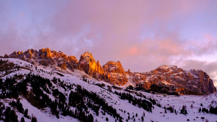Gardena Pass (Grödnerjoch) with the Gran Cir group, Italian Dolomites