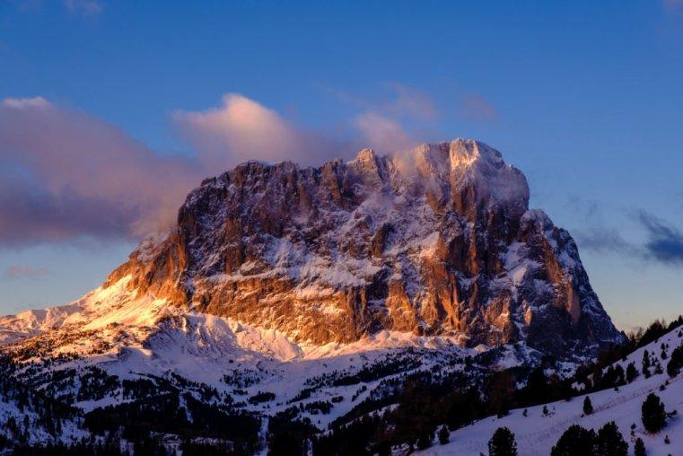 Sassolungo (Langkofel) from Gardena Pass (Grödnerjoch), Italian Dolomites
