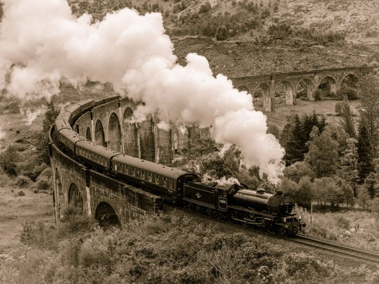 The Jacobite Steam Train, Glenfinnan Viaduct, Scotland