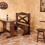 Bench 030 Rustic Wooden Restaurant Benches