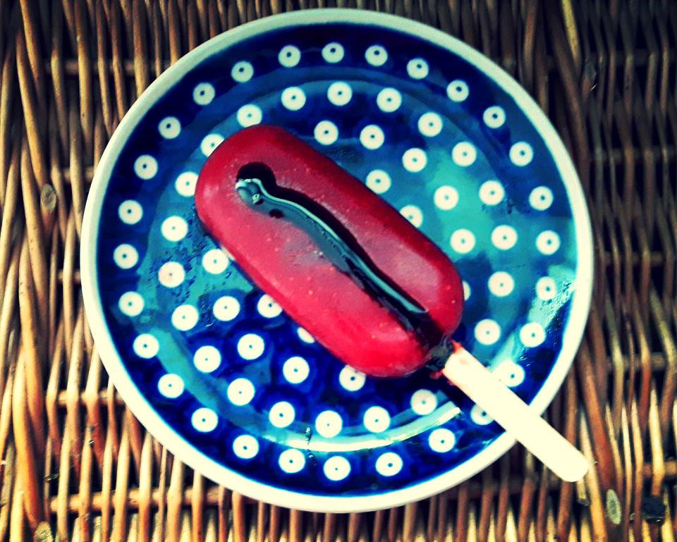 Lody truskawkowe