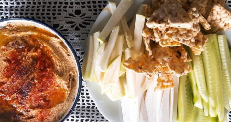 Hummus z masłem orzechowym